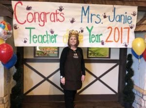 Ms. Janie, Teacher of the Month