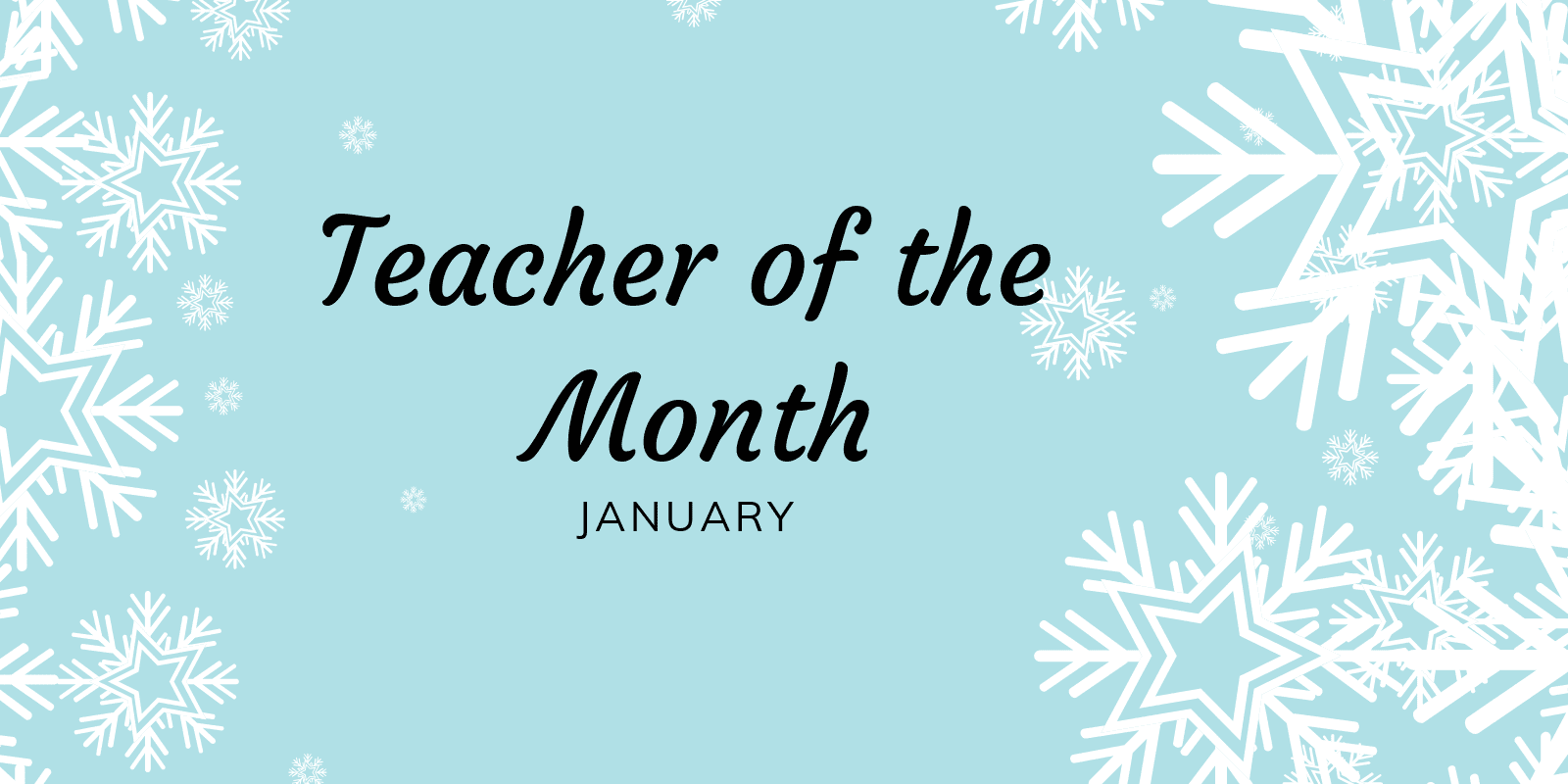 Little Sunshines Playhouse Teacher of the Month January