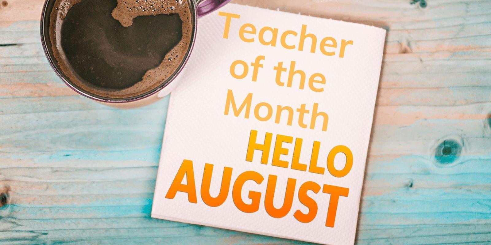 Little Sunshine's Playhouse Teacher of the Month August