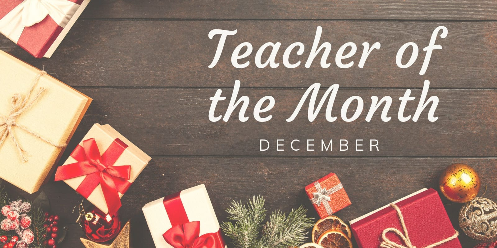 Little Sunshine's Playhouse Teacher of the Month December