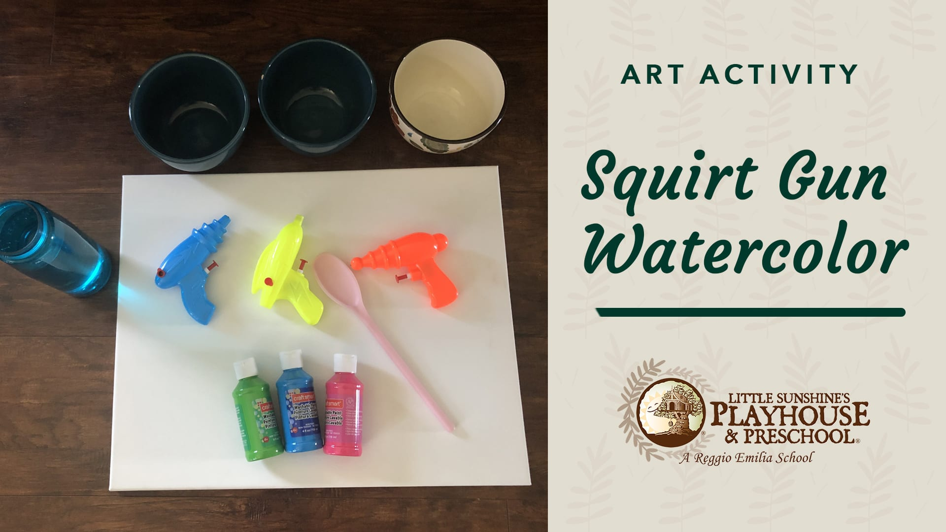 Squirt Gun Watercolor Art Activity