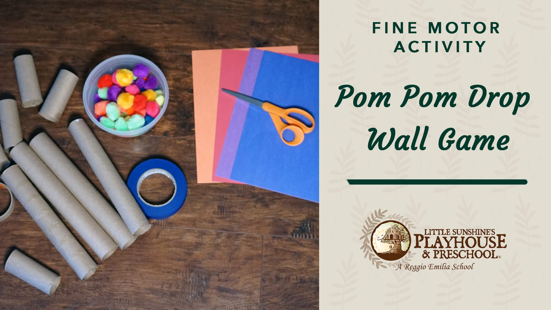 Pom Pom Drop Wall Game